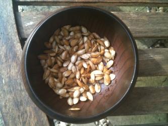 Home Roasted Pumpkin Seeds