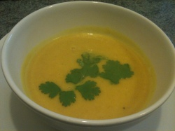 Spicy Butternut Squash and Ginger Soup