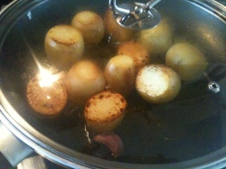 Slow Roast Potatoes, 20 Mins into Cooking Time