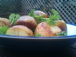 Slow Fried Roast Potatoes