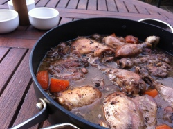 Coq au Vin--The Finished Dish