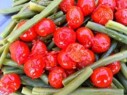Green Beans & Cherry Tomatoes with Lemon