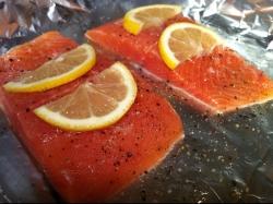 Wild Baked Salmon